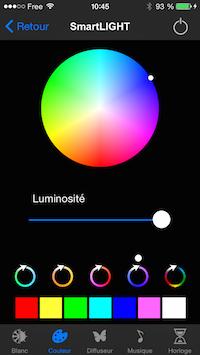 Régler la couleur de l'ampoule