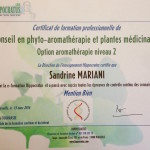Mon certificat de formation professionnelle en phyto-aromathérapie