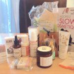 La slow cosmétique : liste des cosmétiques reçus